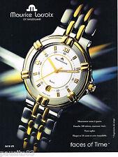 PUBLICITE ADVERTISING 065  1995  LA montre quartz  de MAURICE LACROIX
