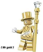 Character Mr Gold Building Blocks New Collection 2019 Gifts Toys Decorations