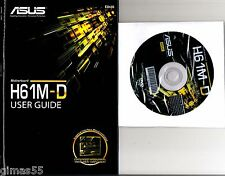 DRIVER CD + MANUALE x scheda madre main board ASUS H61M-D
