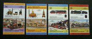 [SJ] St. Vincent Union Island Locomotive 1984 Train Railway Transport (stamp MNH