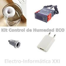 Kit Control de Humedad para Incubadoras Higrostato Humidificador Usb 24-72H