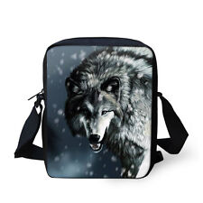 Gray Wolf Fashion Shoulder Bag Small Mesenger Purse Casual Leisure Crossbody Bag