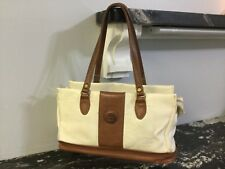 Lady handbag purse brown ivory double handle zip closure Dolce Vita Jackson  H50 d561c2bcf4946