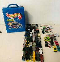 Mattel Hot Wheels 48 Pc Carry Case full of 48 Vehicles plus 17 Extra - 65 Total