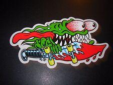 "SANTA CRUZ Skate 6"" Sticker Slasher Logo skateboard helmets decal"