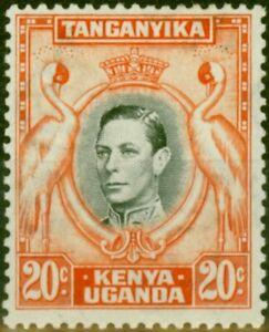 K.U.T 1938 20c Black & Orange SG139 P.13.25 Fine Mtd Mint