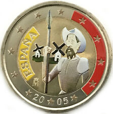 2 euro Spagna 2005 Don Chisciotte colorata