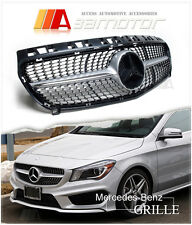 Diamond Radiator Style Front Hood Silver Grille Grill for MERCEDES W176 a Class