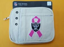 NFL Oakland Raiders Littlearth ProFANity Tablet Sleeve Bag Breast Cancer A153