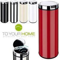 Dihl Round Mono White Black Cream Red Kitchen Waste Automatic Sensor Bin