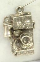 VTG DANECRAFT STERLING SILVER ANTIQUE PHONE TELEPHONE CHARM