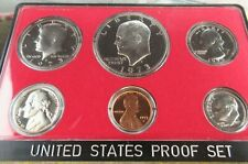 More details for usa proof 6 coin set 1973 sanfasico mint moon landing $1 dollar - cent us mint