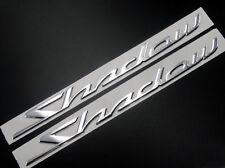 3D Tank Decal Emblem Sticker Silver for Honda Shadow Spirit Sabre Aero ACE VT750