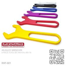 RACEWORKS AN ALLOY SPANNERS AN-4 to AN-16 BRAIDED HOSE FITTINGS HOLDEN COMMODORE