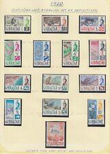 Gibilterra 1960 Set di 14 SG160-173 in perfetta condizione Usato