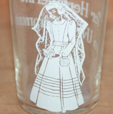 Old Flemish Souvenir Drinking glass, Holy First Communion