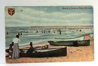 C. 1910 Chicago Illinois Jackson Park Beach Canoes Vintage Postcard
