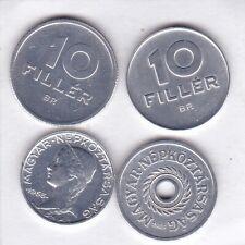 4 x 2 - 10 Filler Hungría 1963 hasta 1970 Hungary prima conservación