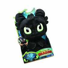 """Dreamworks Dragons, Squeeze & Roar Toothless 11"""" Plush with Sounds, for Kids ."""