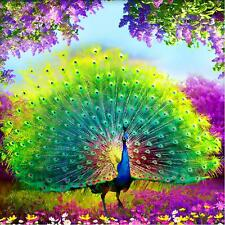 DIY 5D Diamond Embroidery Painting Flower Peacock Mosaic Cross Stitch Home Decor