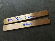 "PHOSPHOR BRONZE    STRIP  3/4"" X 2.6 MM APPROX 150 MM LONG  2 OFF"