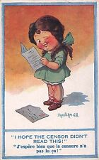 POSTCARD   COMIC   DONALD McGILL  Children  I hope the censor didn't read this !