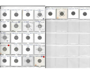 SWEDEN COLLECTION OF 24 DIFFERENT COINS 25 ORE 1907-1964 (18 Silver Coins) 1P.3