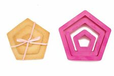 DECORA 3 tagliapasta pentagono biscotti coockie cutters SPEDIZIONI VELOCI