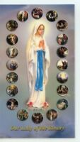 MYSTERIES OF THE ROSARY - Laminated  Holy Cards.  QUANTITY 25 CARDS