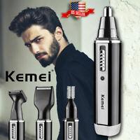 Men's Grooming Kit Nose Ear Hair Trimmer Beard Shaving Machine Clipper Barber US