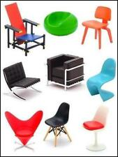 Miniature Designer Chair Collection 1/12 Scale Vol.1 - 9 assorted sets (New)