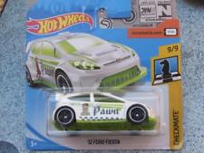 "Hot Wheels 2018 #263/365 2012 FORD FIESTA white green ""Pawn""  Checkmate chess"