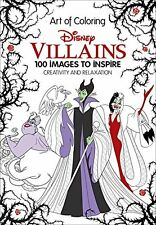 Disney Villains Adult Colouring Book Creative Art Therapy 9781484780367