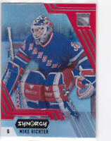 20/21 SYNERGY..MIKE RICHTER..RED ACETATE..# 71..RANGERS..FREE COMBINED SHIP