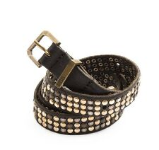 DIESEL Bigiva ceinture cloutées en cuir véritable Studded-Genuine-Leather-Belt