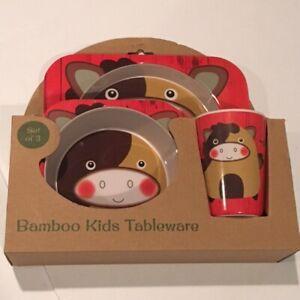 NEW Kids Bamboo Tableware 'Set of 3'