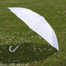 "10 X Grande 40 ""de blanco automático Crook Mango Boda Umbrella-bride/bridesmaid"