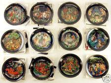 Russian Legend Unique Series Complete Set of 12 Plates