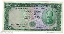 Mozambique ULTRAMARINO PORTUGAL 100 ESCUDOS 1961 NO OVERPRINT BON ETAT