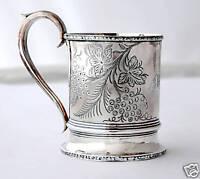 rare R&W WILSON PHILADELPHIA COIN SILVER CHILD CUP 1855