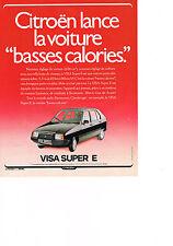 PUBLICITE  ADVERTISING  1980   CITROEN   VISA SUPER  E