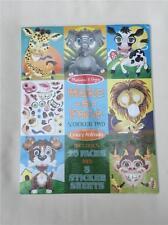 Make A Face Crazy Animals 8605 Melissa & Doug Sticker Book Collection