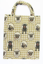 Tapestry Pug Dog Eco Tote Bag Signare Design on both sides