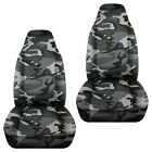 Fits Chevy S10 Bucket Front Car Seat Covers Camo Reedswetlandhawaii Prints....