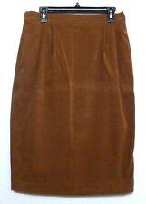 City Girl by Nancy Bolen Rich Caramel Tan Brushed Polyester Skirt - Sz 12