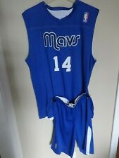 Alleson Dallas Mavericks # 14 Men Lg Reversible Basketball Jersey & Med Short