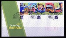 2009 Australia Inventive Australia Strip Of 5 Gummed FDC, Mint Condition