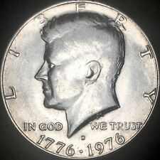 1976-D Bicentennial Kennedy Half Dollar Struck Through Greaser Error 50C