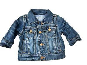 Baby GAP Infant Unisex 'My First Denim' Premium Jean Jacket 0-6 Months Soft Icon