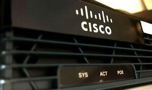 Cisco 2901/K9 mit zwei mal Gigabit Ethernet, 512 MB RAM und 256 MB Flash